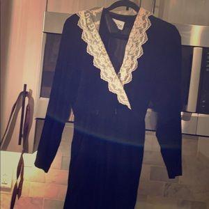 Vintage velvet lace elegant dress